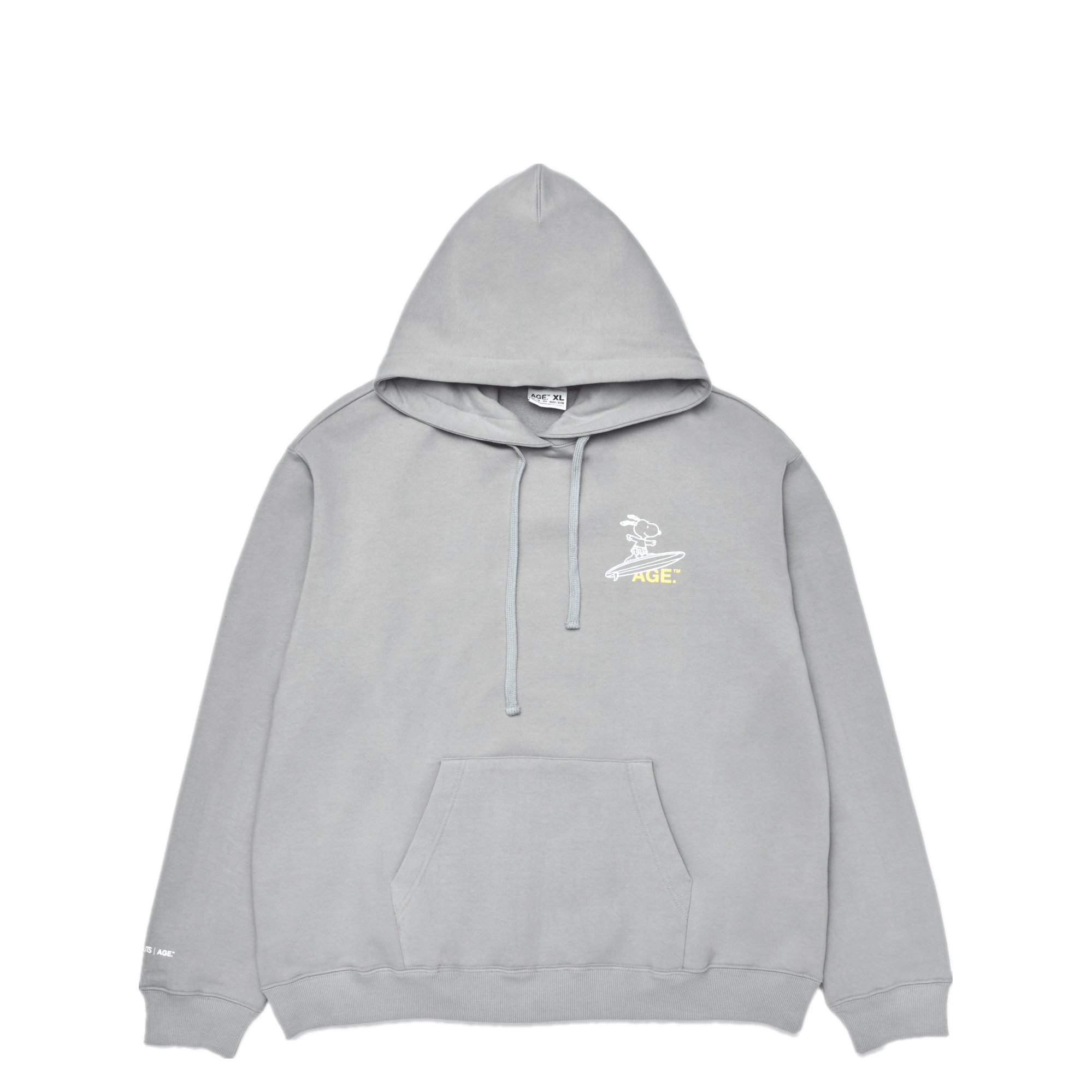 AGE X Snoopy Surfing Hooded GR/YL